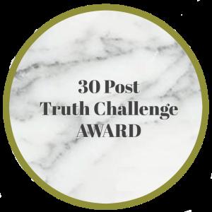 30 Posts Truth Challenge Badge