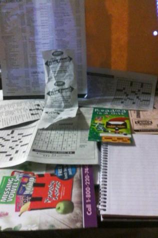 puzzles, compo, bookmarker,receipt