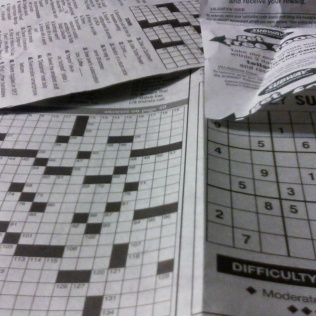 newspaper puzzles