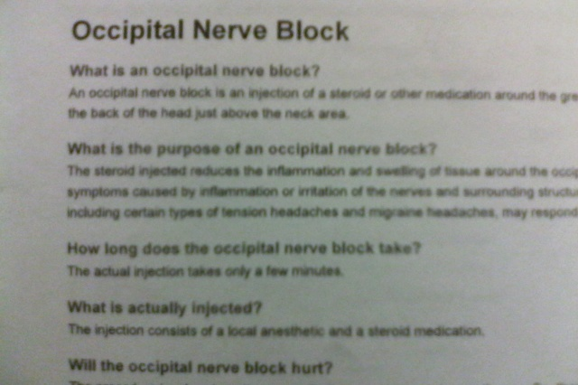 occiptal nerve block