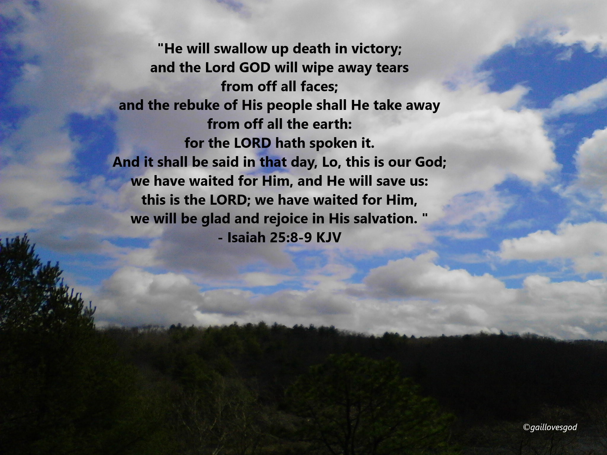 Isaiah25.8-9